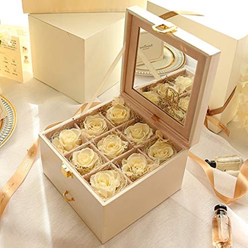 Everlasting Flower, Gift Box, Versatile Jewelry Box, Never Faded Roses, 3
