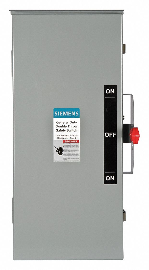 Safety Switch, 3R NEMA Enclosure Type, 100 Amps AC, 40 HP @ 240VAC HP
