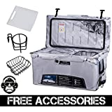 75QT CAMO SAND GRAY COLD BASTARD Rugged Series ICE CHEST COOLER Free Accessories YETI Quality Free S&H