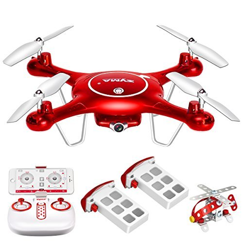 DoDoeleph Syma X5UW FPV RC Drone with 720P HD Wi-Fi Camera Live Video Training Quadcopter for Beginners- Altitude Hold Headless Mode Gravity Sensor One Key Return Includes Bonus Battery