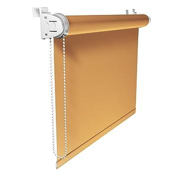 Victoria M Klemmfix - Estor opaco para ventana (fijación sin taladrar) tamaño: 100 x 230 cm amarillo