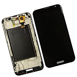 ePartSolution-OEM LG Optimus G Pro AT&T E980 LCD Touch Digitizer Screen with Frame Assembly Black Replacement Part USA Seller