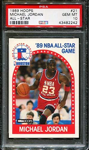 - 1989 HOOPS ALL-STAR #21 MICHAEL JORDAN BULLS HOF PSA 10 K2216266-993