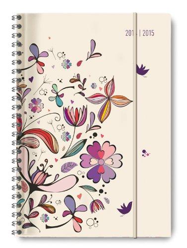 collegetimer-flower-art-2014-2015-schlerkalender-a5-weekly-ringbindung-224-seiten