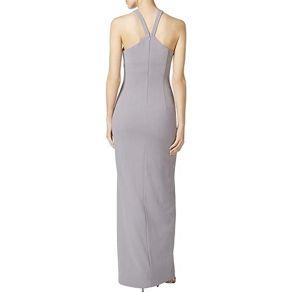 ac65921b7d0 Calvin Klein Womens Criss-Cross Front Sleeveless Evening Dress Gray 8 at Amazon  Women s Clothing store