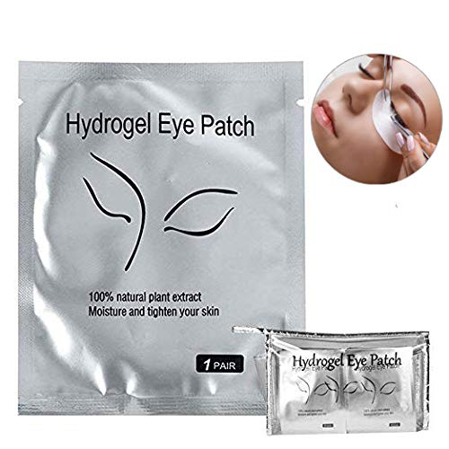 - Eyelash Extension Eye Pad, 100 Pairs Under Eye Pads, Lint Free DIY False Lash Extension Beauty Makeup Hydrogel Gel Eye Patches with Transparent Cosmetic Bag
