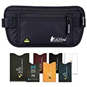 LELETVN Travel Hidden Money Belt – Security Pouch for Cards and Passports – RFID Waterproof Breathable Material…