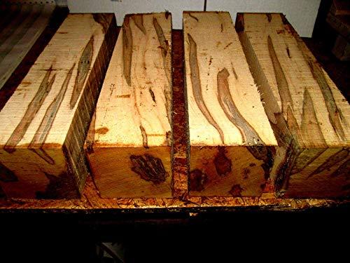 Exotic Turning Blanks - Belsimax Ambrosia Maple Kiln Dried Exotic Wood Lumber - Lathe Turning Wood Bowl Blanks - Wood Turning Blocks - 4