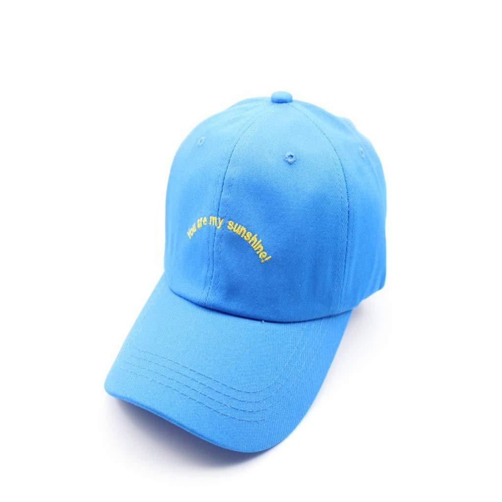Tanlo 2019 Womens Mans Cotton Embroidered Unisex Baseball Caps Adjustable Hats (Blue, Head:56-60cm/22.0-23.6'')
