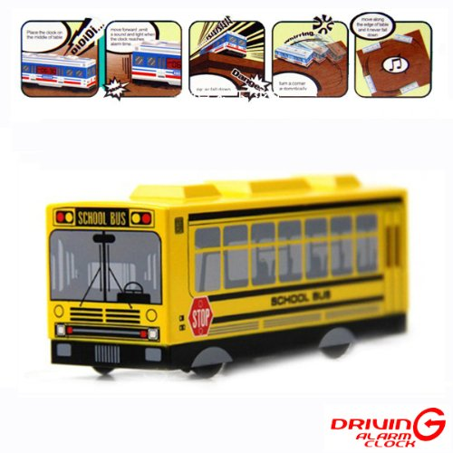 Q Version Of The Fall-prevention Intelligent And Creative Alarm Clock - School Bus by Unknown