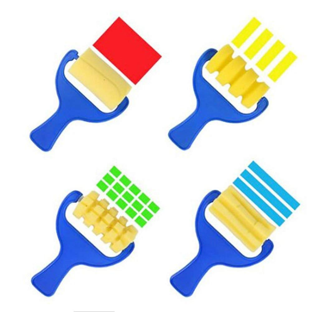 HAMISS Painting Brushes Sponge Accessory Perfect Stationery Set 4Pcs//Set Seal Sponge