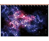 Upscale Shower Curtain [ Space Decorations,Dusty Gas Cloud Nebula and Star Clusters in The Outer Space Cosmos Solar Deco Print,Navy Purple ] Polyester Bathroom Accessories Home Decoration