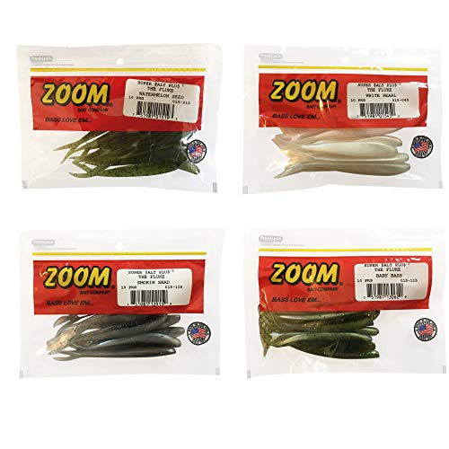 (Bundle: Zoom Fluke Bait Lures - 4 1/4