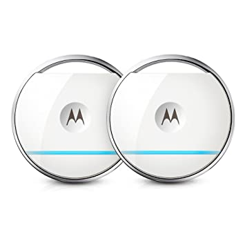 Motorola Focus Tag Twin Set - Paquete de 2 sensores con detección de Movimiento (IP67