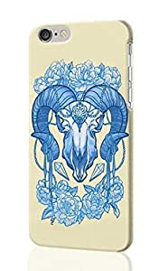 "Boast Diy Flowery Skull Pattern Image - protective 3d Rough case cover - Hard Plastic 0aMnlfLMlX2 3D case cover - For iPhone 6 Plus- 5.5"" inches"