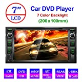 Podofo Double Din Car Stereo Bluetooth Car Radio DVD/CD/MP3/USB/SD/AUX in Dash Head Unit