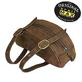 TrailMax Leather Pommel Pocket Horse Saddle Bag for