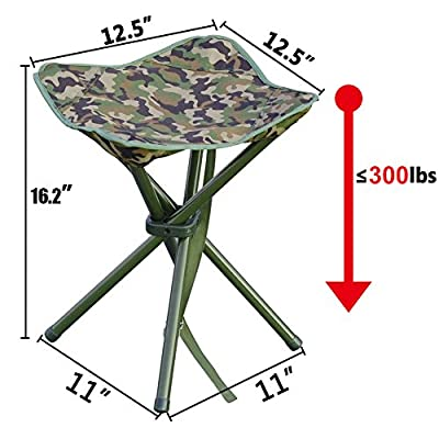 AGOOL Portable Folding Stool Outdoor Square Slack Chair Lightweight Heavy Duty for Camping Mountaineering Hiking Travel House-Using Recreation : Clothing