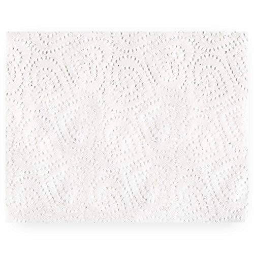 (DecorRack 150 Napkins, 1-Ply 12x12 Absorbent Dinner Napkin, Strong Paper Serviette for Drinks, Lunch, Picnic, Barbeque, Birthday Party, Bachelorette, Camping, Indoor Outdoor Events, White (150)