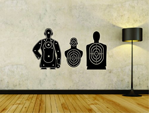 Target Decals - Target Targets for Shooting Display Store Business Weapon Training Vinyl Wall Decal Sticker Car Window Truck Decals Stickers Target01OCC4 16x28