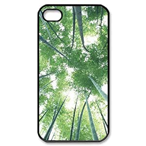 ALICASE Diy Customized hard Case Bamboo For Iphone 4/4s [Pattern-1]