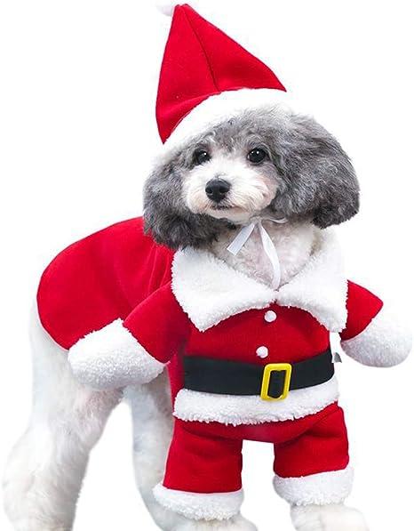 fpengfashion Disfraz de Papá Noel para Mascotas con Sombrero para ...