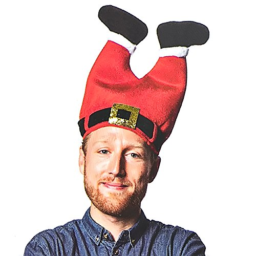 funny holiday hat christmas hat hilarious hat novelty red pants cap party accessory costume plush hat perfect for holiday event celebration kids children