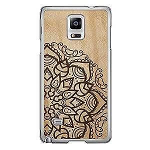 Loud Universe Samsung Galaxy Note 4 Madala N Marble A Madala 4 Printed Transparent Edge Case - Beige