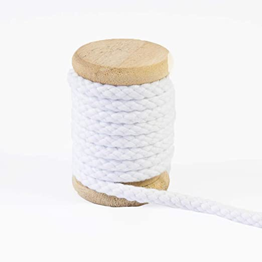 Cordón de algodón blanco monocromático con cinta para capucha ...