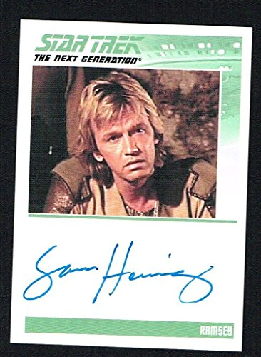 Sam Hennings as Ramsey signed autograph auto 2010 The leading part Trek The Next Generation