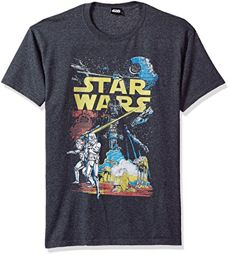 Star Wars Men's Rebel Classic Graphic T-Shirt, Charcoal Heather, XX-Large]()