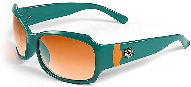 Miami Dolphins Bombshell Aqua w// Orange Sunglasses