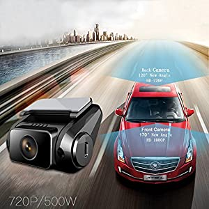 PowerLead Puda D003 Dash Cam Dual Camera 1080P Dual camera Super Night Vision Mode HD Video 1920x1080 DVR
