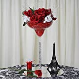Efavormart 4 Sets of Wholesale Plastic Sturdy Centerpiece XL Margarita cup Stand Tabletop Decor Wedding Party Event Decoration