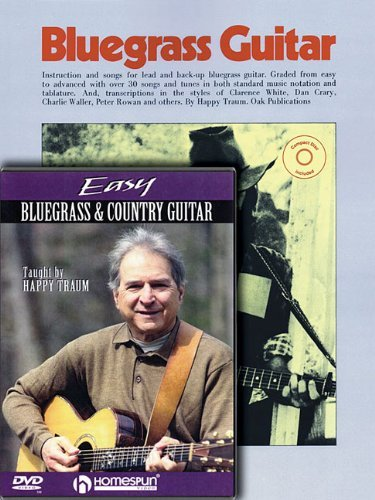 Guitar Homespun Tapes - Happy Traum Bluegrass Pack: Includes Bluegrass Guitar book/CD and Easy Bluegrass and Country Guitar DVD (Homespun Tapes) by Happy Traum (2010-06-01)