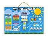 Magnetic My First Calendar | Children's Educational Toy With Thick Buttons For Tiny Fingers, Teach Your Child The Calendar, Weather and Seasons With Hanging Loop And Downloadable Colouring Sheets
