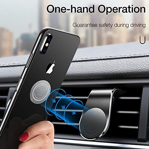 McNory Supporto Magnetico Auto Universale,Smartphone Porta Cellulare da Auto [Forte Magnetico] Mini Telefono Supporto Ventilazione per iPhone 8 7 Plus Samsung S9 Huawei P30 Mate 20 Lite GPS