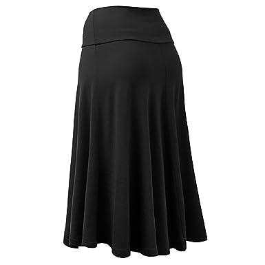 BaZhaHei Falda Corta Vestidos de Mujer Mujer Tallas Grandes Solid ...