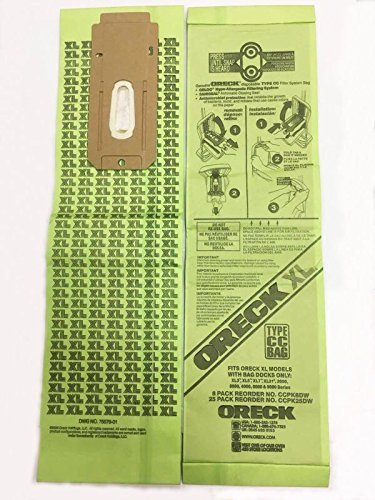 Oreck XL Brand Commercial Line Upright Vacuum Disposable Bag CCPK8DW Pack Of 8
