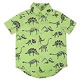 #2: HDE Boys Short Sleeve Button Down Cotton Shirt Cute Pattern Prints - Size 2T-7/8