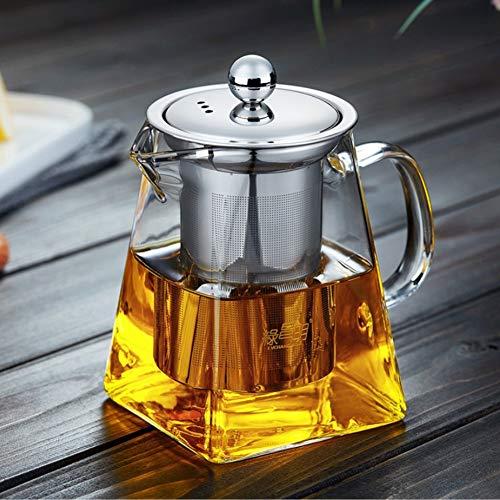 ROKTONG Teteras de Vidrio con infusor, 500 ml en Forma Cuadrada ...