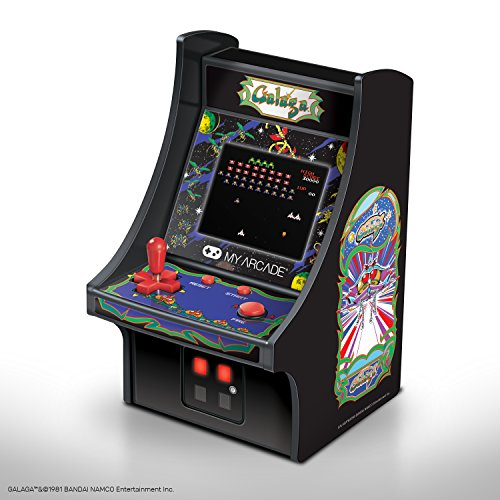 Get ready to face off against bug-like aliens again in this sequel to GALAXIAN. GALAGA was first released in 1981 and is just as popular and beloved as its predecessor but kicks it up a notch with even more awesome space-tastic features.