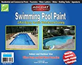 Swimming Pool Paint, 2-Part Epoxy Acrylic Waterbased Coating, 1 Gallon Kit - Cool