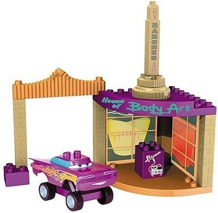 Amazon Com Mega Bloks Ramone S Paint Shop Toys Games