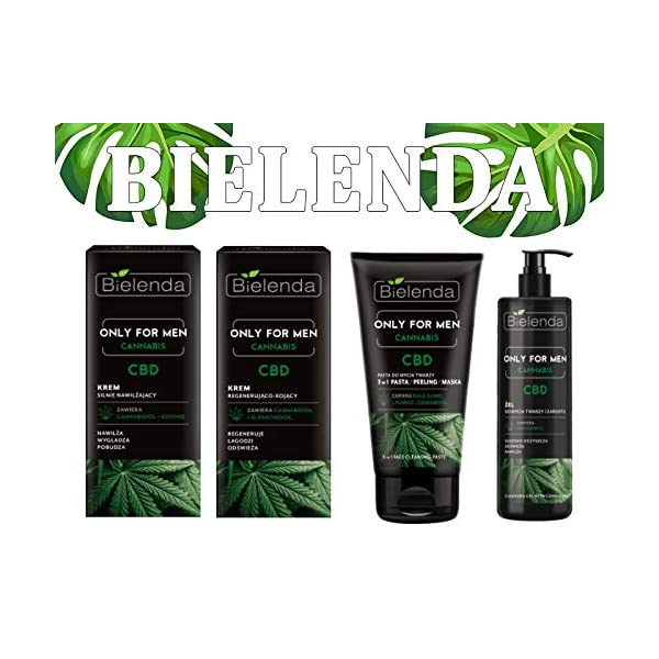 Bielenda Only For Men HEMP 3in1 Face Cleansing Paste – Scrub, Paste, Mask 150ml