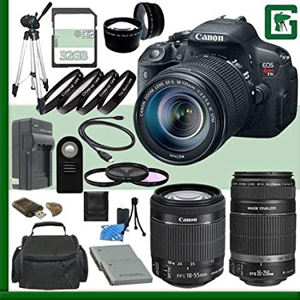 Canon EOS Rebel T5i Kit de Cámara Réflex Digital con Objetivo 18 ...