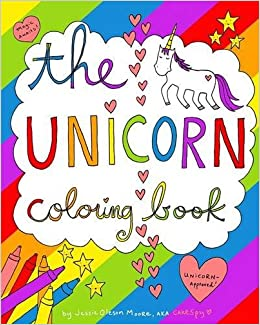 Amazon The Unicorn Coloring Book 9781364315597 Jessie Oleson Moore Books
