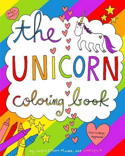 amazoncom the unicorn coloring book 9781364315597 jessie oleson moore books