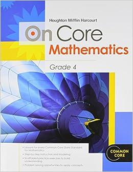 Houghton Mifflin Harcourt On Core Mathematics: Student Workbook Grade 4 Download Pdf