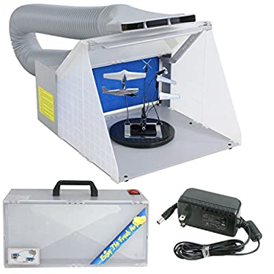 BBBuy Portable Hobby Airbrush Spray Booth with LED Lighting for Painting All Art, Cake, Craft, Hobby, Nails, T-shirts & More